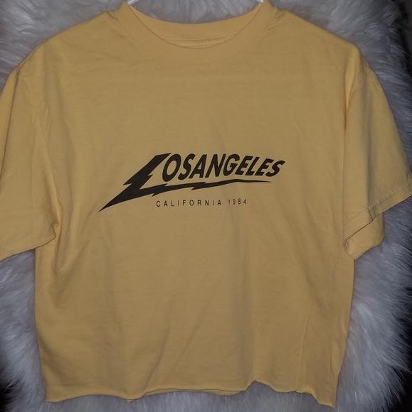 ac3295a10e521f Brandy Melville Tops - Brandy Melville JG Los Angeles Lightning Shirt